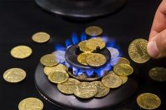 Цена газа, кризиса концепции стоковые фото