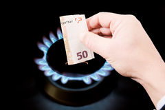 Цена газа стоковая фотография rf