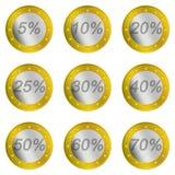 цена евро рабата Стоковое Изображение
