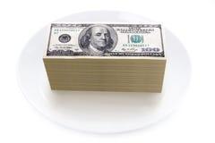 Цена принципиальной схемы еды Стоковое Изображение RF