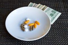 Цена медицин стоковые изображения rf