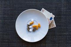 Цена медицин стоковое изображение rf