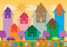 Цена на дом вверх Иллюстрация штока