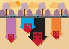 Цена на дом вниз Бесплатная Иллюстрация