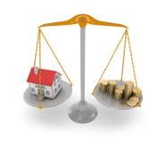 Цена на дом Стоковое Изображение