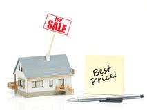 Цена дома для продажи - самое лучшее Стоковое Фото