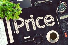 Цена рукописное на черной доске перевод 3d стоковые фотографии rf