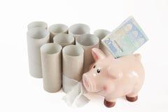 Цена туалетной бумаги стоковая фотография