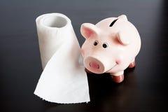 Цена туалетной бумаги стоковое изображение rf