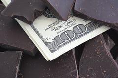 Цена шоколада стоковые изображения rf
