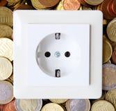 Цена электричества стоковые фотографии rf