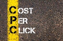 Цена CPC акронима в щелчок стоковая фотография
