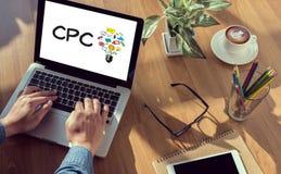 Цена CPC в щелчок стоковые фотографии rf