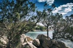 Цена esmerald залива capriccioli Сардинии стоковое изображение