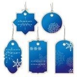 Ценники зимы nad рождества голубые Стоковое фото RF