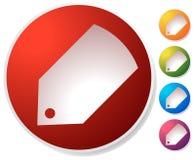 Ценник, значок ярлыка в нескольких цветов Продажи, продвижение, marke бесплатная иллюстрация