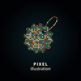 Ценник - иллюстрация пиксела Стоковые Изображения RF