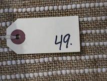 Ценник 49 Стоковые Фотографии RF
