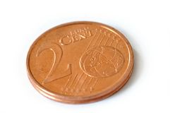 2 цента евро Стоковая Фотография RF
