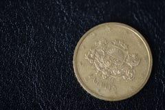 50 центов евро на темной предпосылке стоковое фото