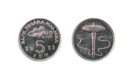 5 центов Малайзии Стоковые Изображения