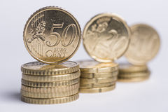 50 центов на куче Стоковое Фото