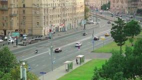 Центральная зона элиты Москвы и дороги сток-видео