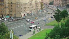Центральная зона элиты Москвы и дороги акции видеоматериалы