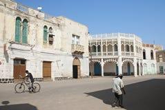 центральная улица места massawa eritrea стоковое фото rf