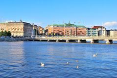 центральная часть stockholm Стоковые Изображения