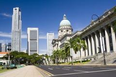 центральное заречье singapore стоковые фото