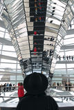 центральное reichstag колонки стоковые фото