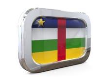 Центрально-африканская иллюстрация флага 3D кнопки бесплатная иллюстрация