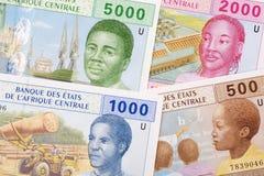 Центрально-африканские деньги, предпосылка стоковая фотография rf