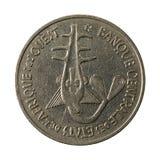 100 центрально-африканское обратный монетки 1978 франка CFA стоковая фотография