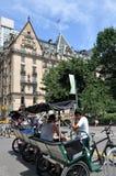 центральные pedicabs парка nyc Стоковые Фотографии RF