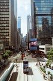 центральный взгляд улицы Hong Kong заречья Стоковые Фотографии RF