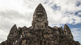 Центральный висок Angkor Wat Timelapse 4K сток-видео