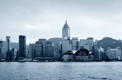 центральный горизонт Hong Kong заречья Стоковая Фотография RF