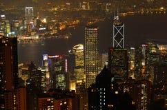 центральный горизонт Hong Kong заречья Стоковая Фотография