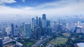 Центральный деловой район в южной Джакарте стоковая фотография rf