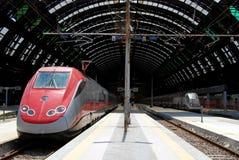 центральный железнодорожный вокзал милана Стоковое Фото