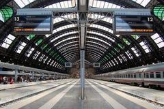 центральный железнодорожный вокзал милана Стоковые Изображения RF