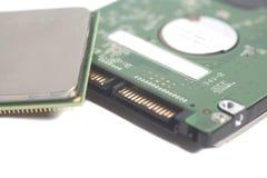 Центральный жёсткий диск Dri компьютера конца микросхемы C.P.U. устройства обработки данных стоковые фотографии rf