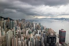 Центральный залив острова Гонконга, Китай стоковые изображения