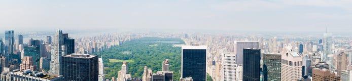 центральный парк панорамы Стоковое Изображение RF