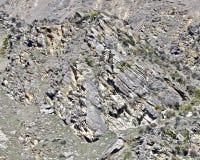 Центральный холм Otago скалистый в Новой Зеландии стоковые фотографии rf