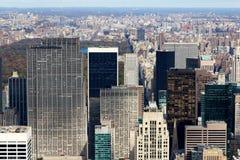 центральный manattan новый парк за расположенный на окраине города взглядом york Стоковое Фото