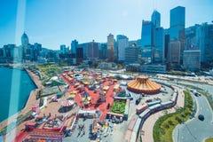 Централь, Гонконг - 10-ое января 2018: Европеец Ca AIA большой стоковое изображение