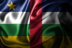Централь флага сатинировки африканской республики Silk Стоковое фото RF